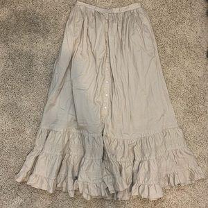 LAUREN Ralph Lauren Peasant Button Closure Skirt